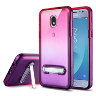 Airium Hybrid Protector Cover (with Magnetic Metal Stand) for Samsung J337 (Galaxy J3 (2018)) - Purple / Hot Pink and Purple