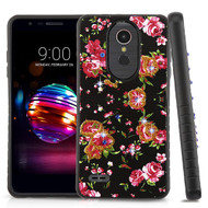 Airium Diamante Hybrid Protector Cover for Lg L413DL (Premier Pro) - Romantic Love Flowers / Black