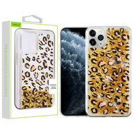 Airium Quicksand Glitter Hybrid Protector Cover for Apple iPhone 11 Pro - Leopard & Gold