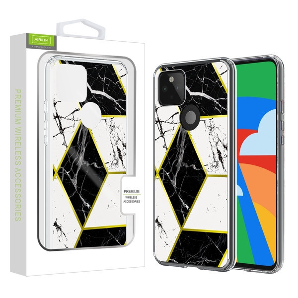 Airium Fusion Protector Case for Google Pixel 5 - Electroplated Black Marbling