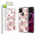 Airium Fusion Protector Cover for T-mobile Revvl 5G - Electroplated Roses Marbling