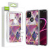 Airium Fusion Protector Cover for T-mobile Revvl 5G - Electroplated Purple Marbling
