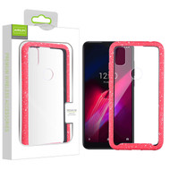 Airium Splash Hybrid Case for T-mobile REVVL 4 - Highly Transparent Clear / Red