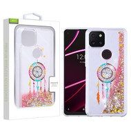 Airium Quicksand Glitter Hybrid Protector Cover for T-mobile Revvl 5G - Dreamcatcher & Gold Stars