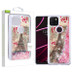 Airium Quicksand Glitter Hybrid Protector Cover for T-mobile Revvl 5G - Eiffel Tower & Pink Hearts