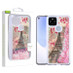 Airium Quicksand Glitter Hybrid Protector Cover for Google Pixel 5 XL - Eiffel Tower & Pink Hearts