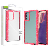 Airium Splash Hybrid Case for Samsung Galaxy Note 20 - Highly Transparent Clear / Red