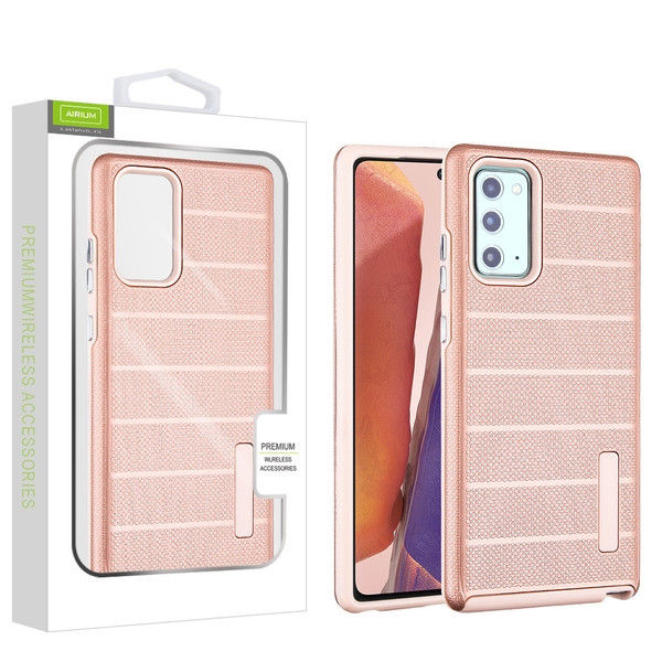 Airium Fusion Protector Case for Samsung Galaxy Note 20 - Rose Gold Dots Textured / Rose Gold