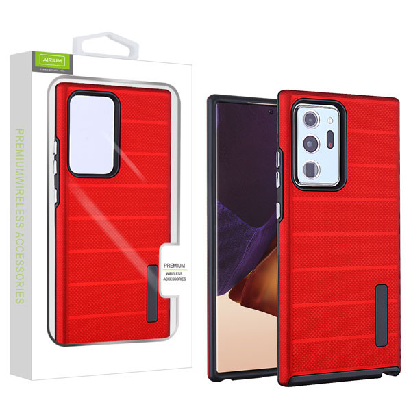 Airium Fusion Protector Case for Samsung Galaxy Note 20 Ultra - Red Dots Textured / Black