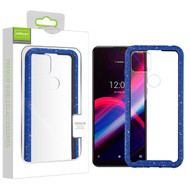 Airium Splash Hybrid Case for T-mobile Revvl 4+ - Highly Transparent Clear / Blue