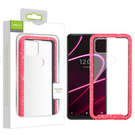 Airium Splash Hybrid Case for T-mobile Revvl 5G - Highly Transparent Clear / Red