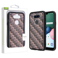 Airium Hybrid Case for Lg K31 (Aristo 5)/Fortune 3 - Carbon Fiber Texture / Black