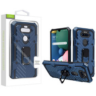 Airium Hybrid Case (with Ring Stand) for Lg K31 (Aristo 5)/Fortune 3 - Dark Blue / Black