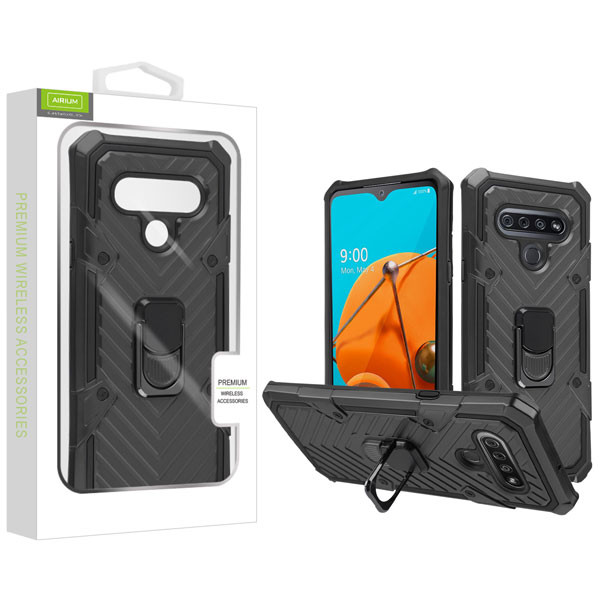 Airium Hybrid Case (with Ring Stand) for Lg Reflect - Black / Black