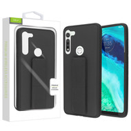 Airium Hybrid Case (with Foldable Stand) for Motorola Moto G Fast - Black
