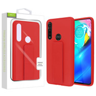 Airium Hybrid Case (with Foldable Stand) for Motorola Moto G Power - Red