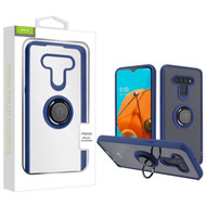 Airium Hybrid Case (with Ring Stand) for Lg Reflect - Transparent Clear / Blue