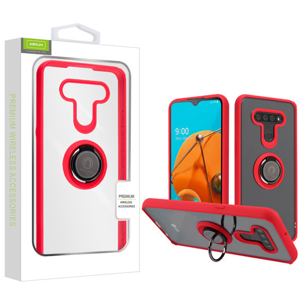 Airium Hybrid Case (with Ring Stand) for Lg Reflect - Transparent Clear / Red