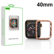 Airium Electroplated Apple Watch Case (with Diamonds) for Apple Watch Series 4 40mm - Rose Gold