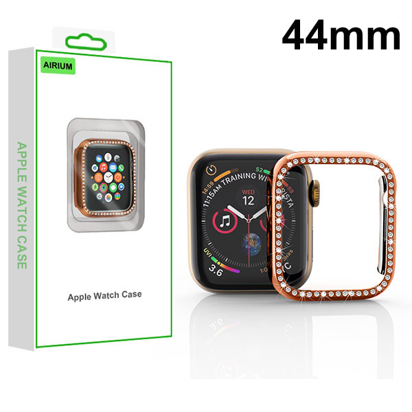 Airium Electroplated Apple Watch Case (with Diamonds) for Apple Watch Series 4 44mm - Rose Gold