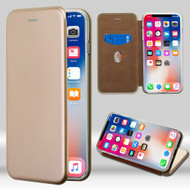 Airium Magnetic Book-Style Executive Protector Cover for Apple iPhone XS/X - Gold