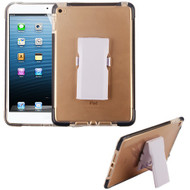 Airium Bumper Sturdy Candy Skin Cover (with Detachable Stand) for Apple iPad mini 4 (A1538,A1550) - Transparent Clear / Black