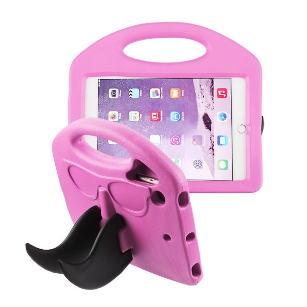 Airium Mustache Kids Drop-resistant Protector Cover for Apple iPad mini (A1432,A1454,A1455) - Pink