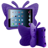 Airium Butterfly Kids Drop-resistant Protector Cover for Apple iPad mini (A1432,A1454,A1455) - Purple