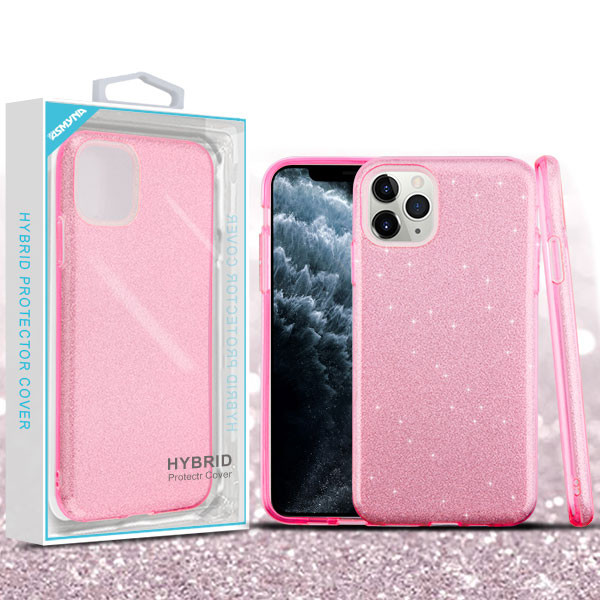 Asmyna Full Glitter Hybrid Protector Cover for Apple iPhone 11 Pro - Pink