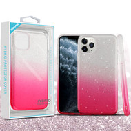 Asmyna Gradient Glitter Hybrid Protector Cover for Apple iPhone 11 Pro - Pink