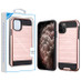 Asmyna Brushed Hybrid Protector Cover for Apple iPhone 11 Pro Max - Rose Gold / Black