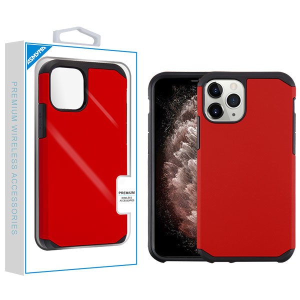 Asmyna Astronoot Protector Cover for Apple iPhone 11 Pro Max - Red / Black