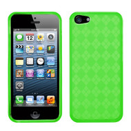 Asmyna Argyle Candy Skin Cover for Apple iPhone 5s/5 - Dr Green
