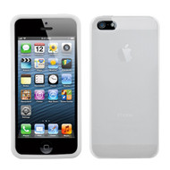 Asmyna Solid Skin Cover for Apple iPhone 5s/5 - Translucent White