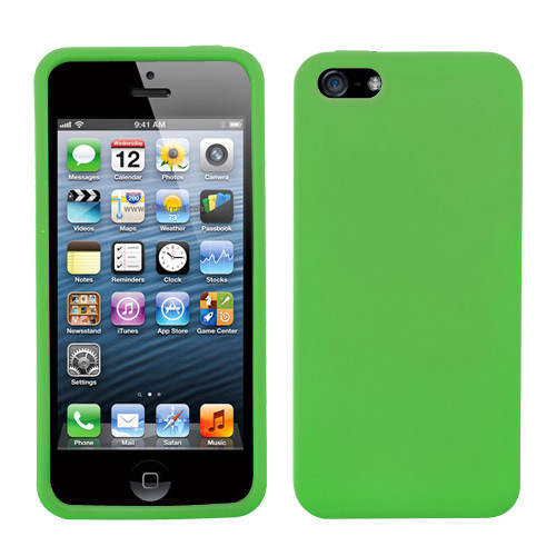 Asmyna Solid Skin Cover for Apple iPhone 5s/5 - Dr Green