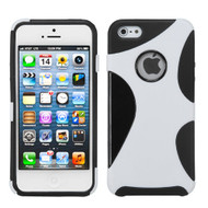 Asmyna Cragsman Mixy Protector Cover for Apple iPhone 5s/5 - Rubberized White / Black