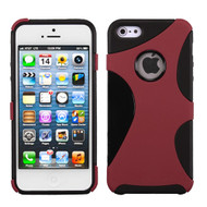 Asmyna Rubberized Cragsman Mixy Protector Cover for Apple iPhone 5s/5 - Red / Black