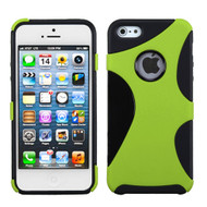 Asmyna Cragsman Mixy Protector Cover for Apple iPhone 5s/5 - Rubberized Apple Green / Black