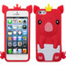 Asmyna Crown Piggie Pastel Skin Cover for Apple iPhone 5s/5 - Red