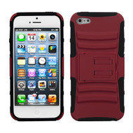 Asmyna Advanced Armor Stand Protector Cover for Apple iPhone 5s/5 - Red / Black