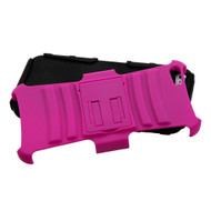 Asmyna Advanced Armor Stand Protector Cover for Apple iPhone 5s/5 - Hot Pink / Black