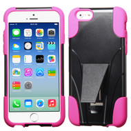 Asmyna Advanced Armor Stand Protector Cover for Apple iPhone 6s/6 - Hot Pink Inverse