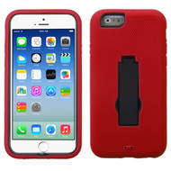 Asmyna Symbiosis Stand Protector Cover for Apple iPhone 6s/6 - Black / Red
