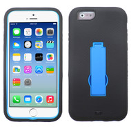 Asmyna Symbiosis Stand Protector Cover for Apple iPhone 6s/6 - Dark Blue / Black