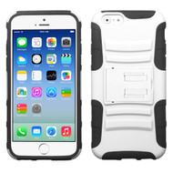 Asmyna Advanced Armor Stand Protector Cover for Apple iPhone 6s/6 - White / Black