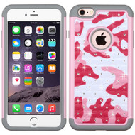 Asmyna FullStar Protector Cover for Apple iPhone 6s Plus/6 Plus - Pearl Pink(camo) / Gray