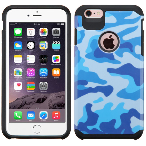 Asmyna Advanced Armor Protector Cover for Apple iPhone 6s Plus/6 Plus - Navy Blue / Black