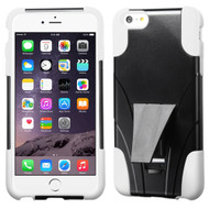 Asmyna Advanced Armor Stand Protector Cover for Apple iPhone 6s Plus/6 Plus - White Inverse