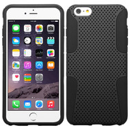Asmyna Astronoot Protector Cover for Apple iPhone 6s Plus/6 Plus - Black / Black
