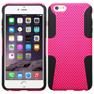 Asmyna Astronoot Protector Cover for Apple iPhone 6s Plus/6 Plus - Hot Pink / Black